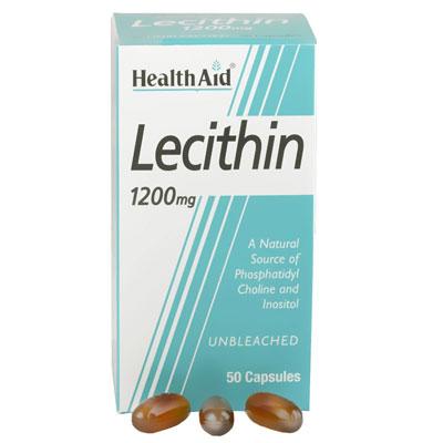 Health Aid Lecithin 1200mg 50Caps