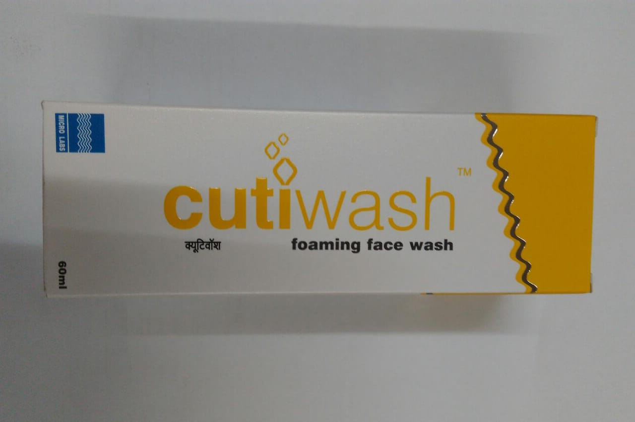 CUTIWASH FOAMING FACE WASH 60 ml PACK OF 2