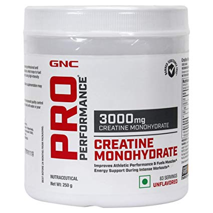 GNC PRO PERFORMANCE 3000mg CREATINE MONOHYDRATE  250g
