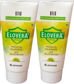 Elovera Vitamin E and Aloe Vera Cream (75 g) -Pack of 2