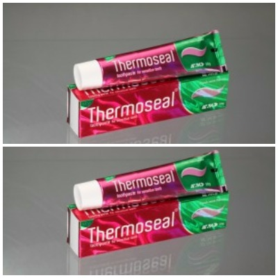 Thermoseal tooth paste 100g Fresh mint flavor pack of 2