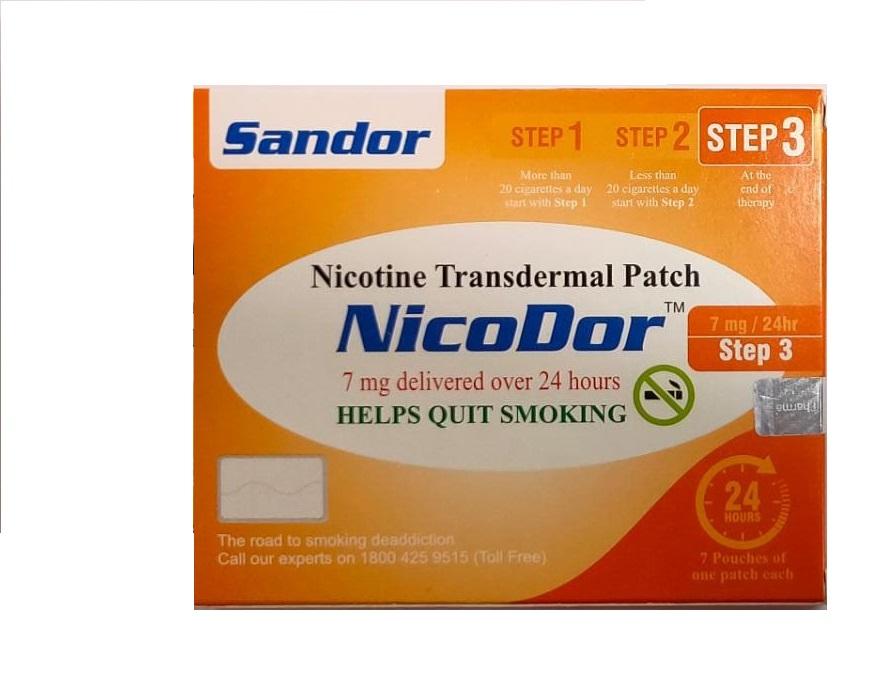 Nicodor Nicotine Transdermal Patch STEP 3
