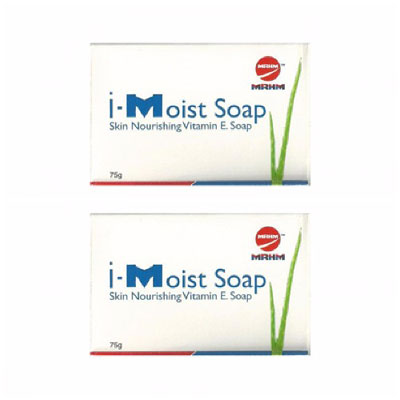 I Moist Soap With Vitamin E bar  75g pack of 2