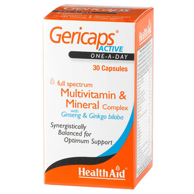 Health Aid Gericaps Active 30Caps