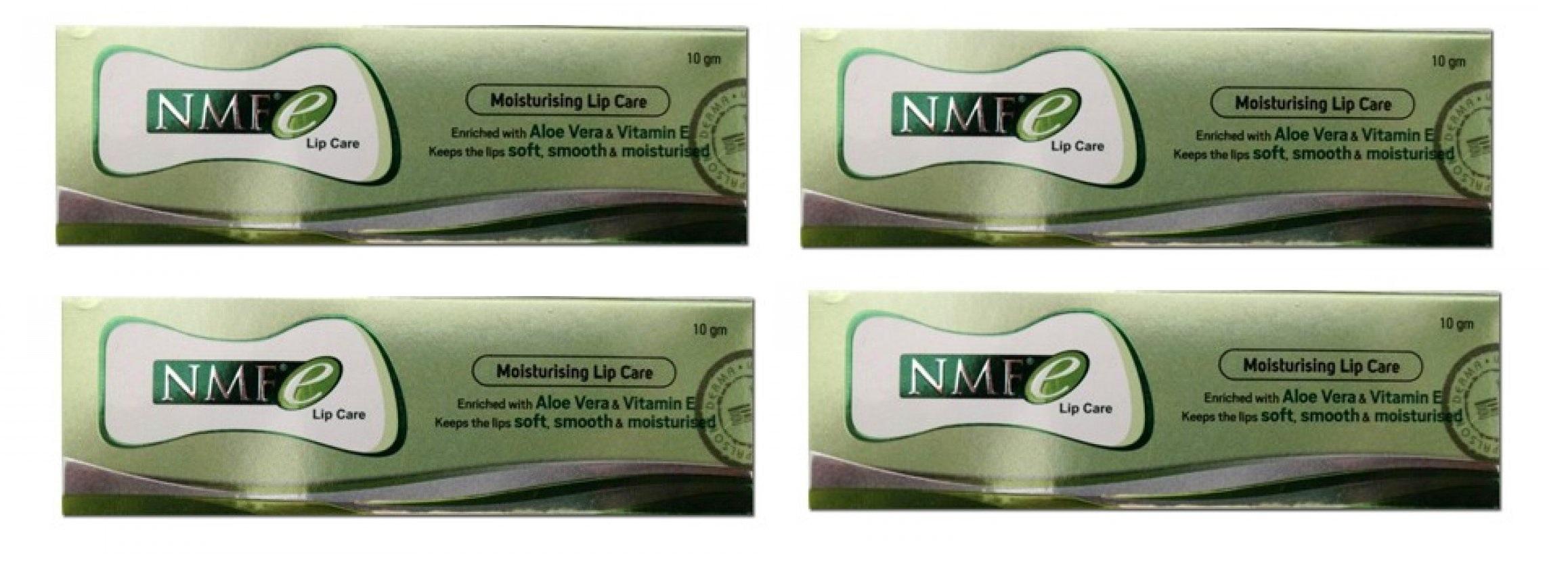 NMFe Nmf E Lip Care Balm 10 Gm Pack Of 4