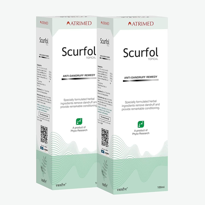 Scurfol Anti Dandruff Shampoo, Pack of 2, 100ml
