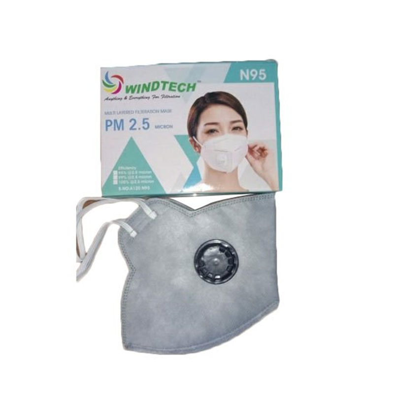 Windtech Multi layer Filtration Mask PM 2.5 Micron (Pack of 2)
