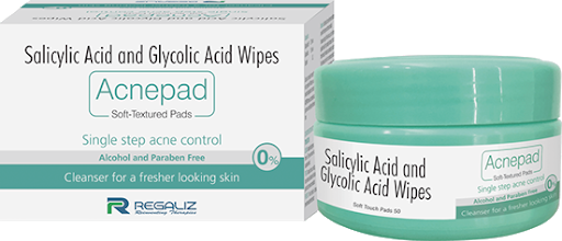 Acnepad   Salicylic and Glycolic Acid Wipes Soft Textured Pads  Pack Of 2