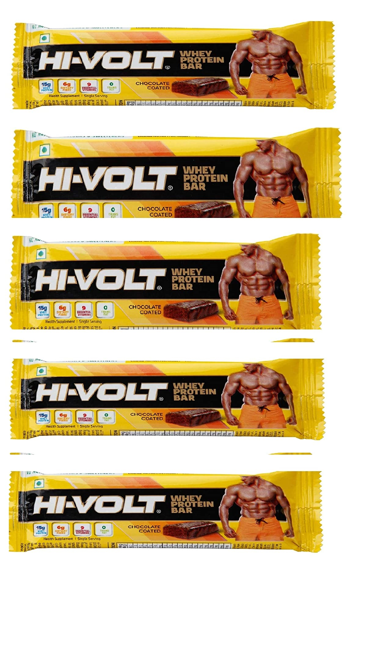 HI-VOLT WHEY PROTEIN BAR CHOCOLATE COATED 45 G Buy 5 Get 5 free