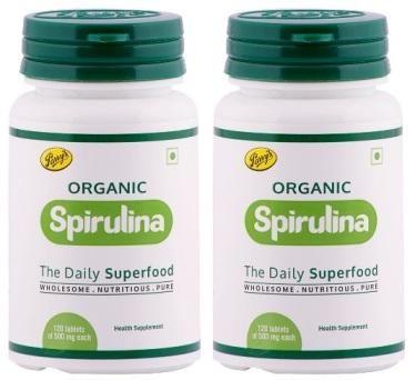 Parry Wellness Organic Spirulina Tablets  120 Tablets  Pack of 2