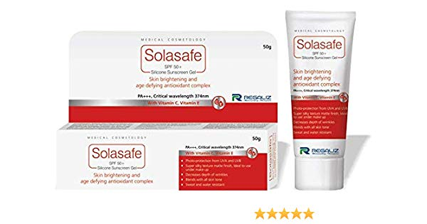 Solasafe Spf 50+ Sunscreen Gel Regaliz India Ltd