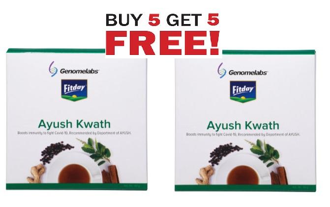 Fitday Ayush Kwath 60g  Buy 5 Get 5 Free