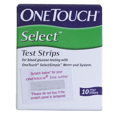 OneTouch Select Simple Strips 10