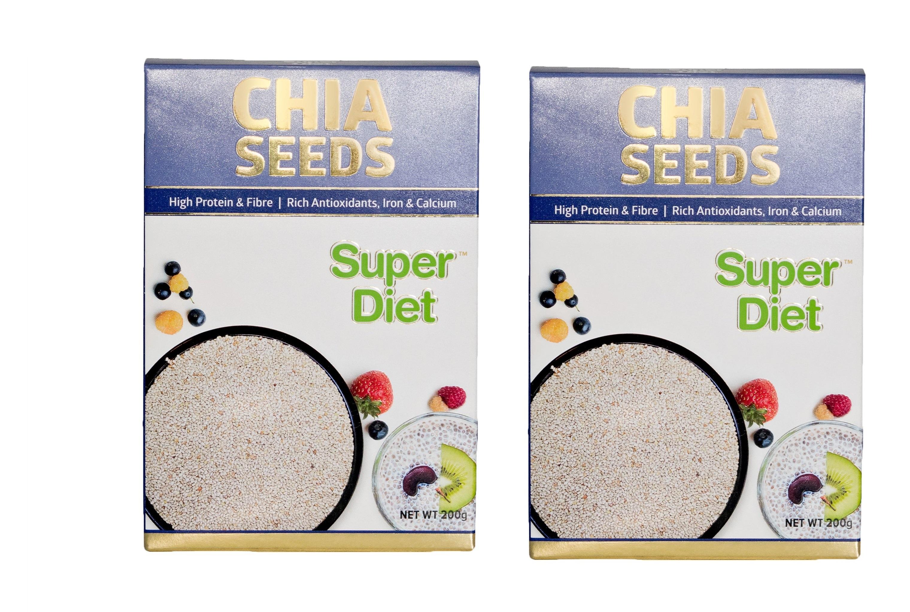 Super Diet Chia Seeds - 200 gm Pack Of 2