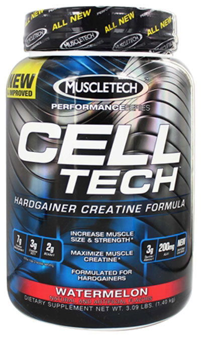 MuscleTech Performance Series Cell-Tech, water lemon, 3 lbs per 1.4kg
