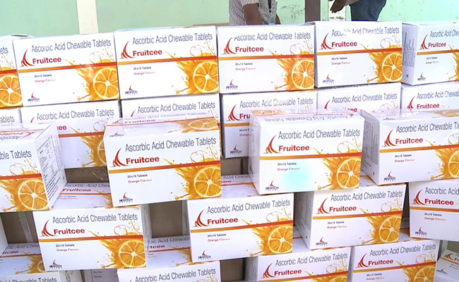 FRUITCEE ORANGE FLAVOUR ASCORBIC ACID CHEWABLE TABLETS PACK OF 20