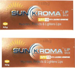 Sunkroma lip Balm SPF 15 5g Pack Of 2