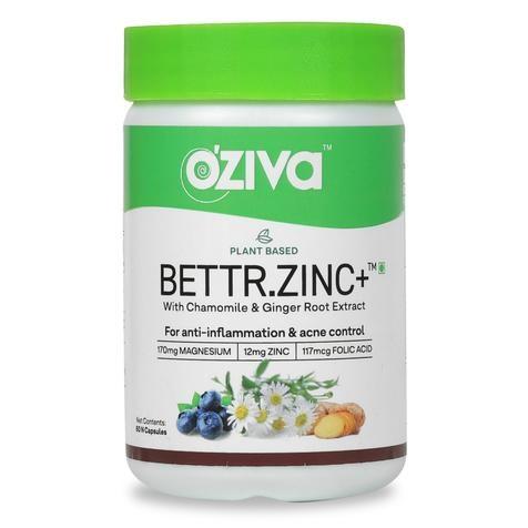 OZiva Plant Based Bettr.Zinc plus 60caps