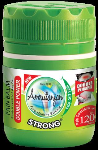 Amrutanjan STRONG PAIN BALM 55 ml PACK OF 2