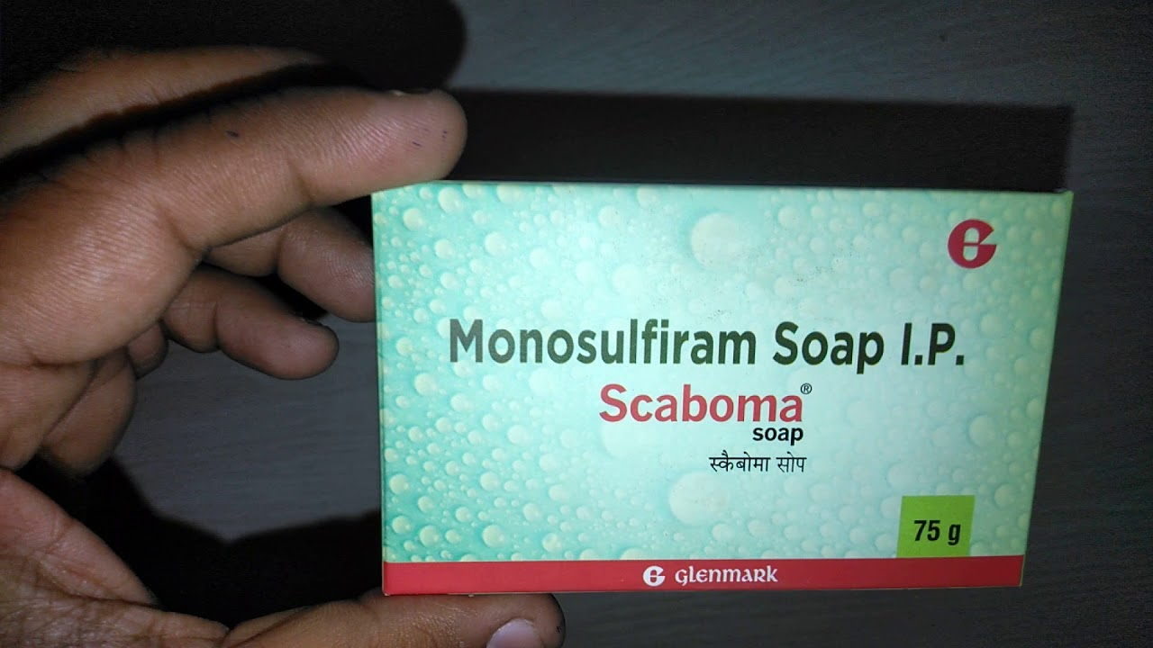 Monosulfiram soap I P Scaboma soap 75g pack of 4