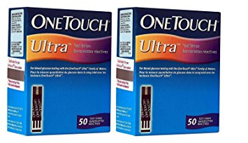 OneTouch Ultra 100 Strips Box 2 Pack of 50 each