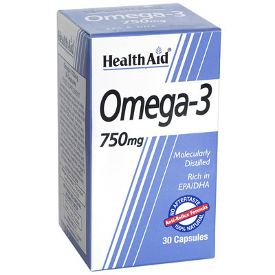 Health Aid Omega 3 750 mg Caps