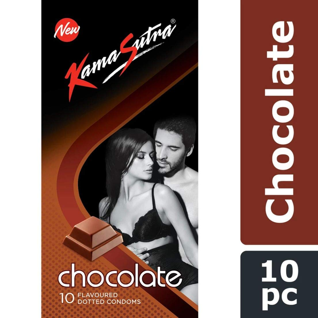 KAMASUTRA CHOCOLATE FLAVOURED 10`S CONDOMS (PACK OF 5)