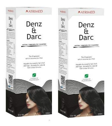 Denz and Darc Hair Shampoo 200Ml  PACK OF 2