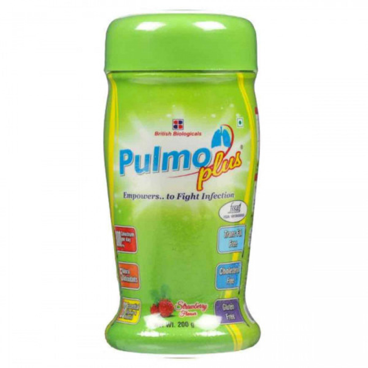 Pulmo Plus Strawberry Flavor 200g Pack of 2