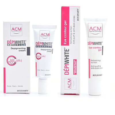 Wockhardt Depiwhite Advanced Depigmenting Cream 40ml and Depiwhite Eye Contour Gel 15ml Combo Set