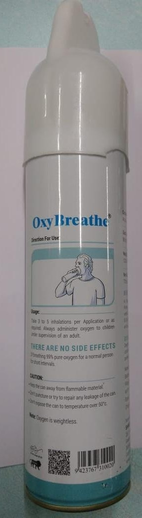 PROMEPRO Oxy Breathe Portable Oxygen Can 8 Ltr