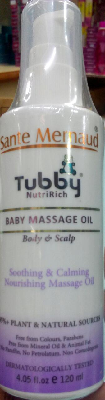 TUBBY NUTRI RICH baby massage oil 120ml