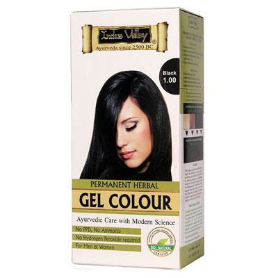 Indus Valley Permanent Herbal Hair Colour- Black