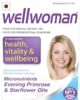 Wellwoman health vitality wellbeing 30caps