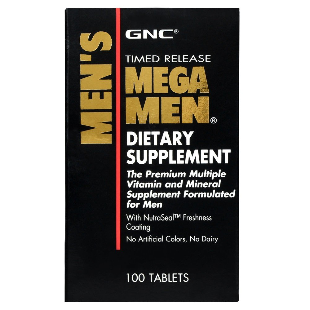 GNC MEGA MEN DIETARY SUPPLEMENT 100 TABLETS