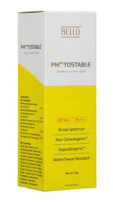 Bello Photostable Sunscreen Gel SPF 40 PA 75g
