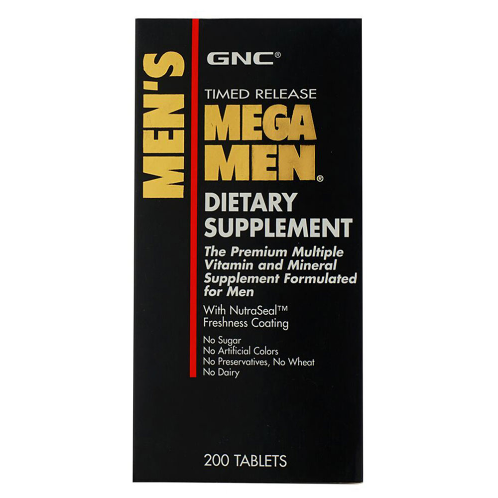 GNC MEGA MEN DIETARY SUPPLEMENT 200 TABLETS