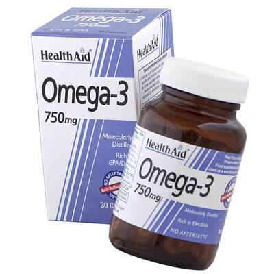 Health Aid Omega 3 750mg 30 Caps