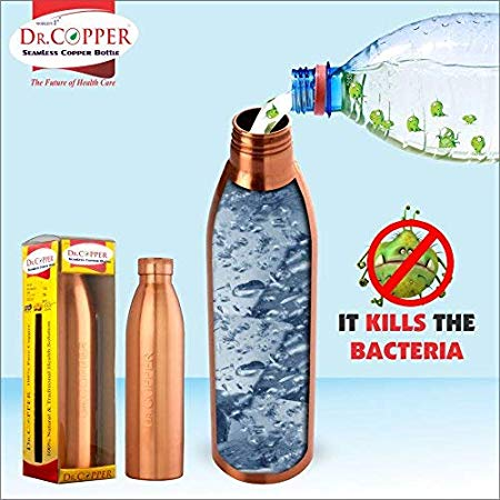 Dr. Copper Water Bottle with New Stylish and Advanced Leak Proof Cap - 500 ml
