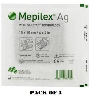 MEPILEX Ag 10 10cm 287110 Pack Of 5