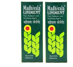 Madhivala LINIMENT Pain Reliever and Soothing Agent 90ml Pack of 2