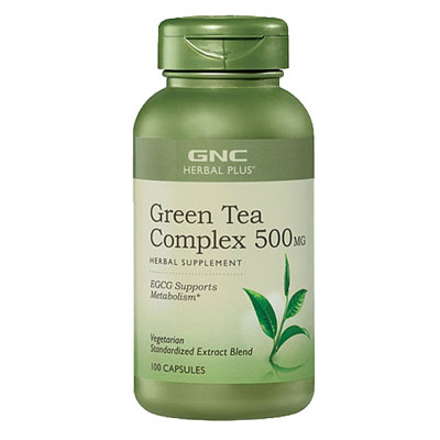 GNC Herbal Plus Green Tea Complex 500mg 100 Capsules
