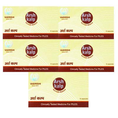 Vaid Rishi Arsh Kalp 6 Capsules Pack Of 5