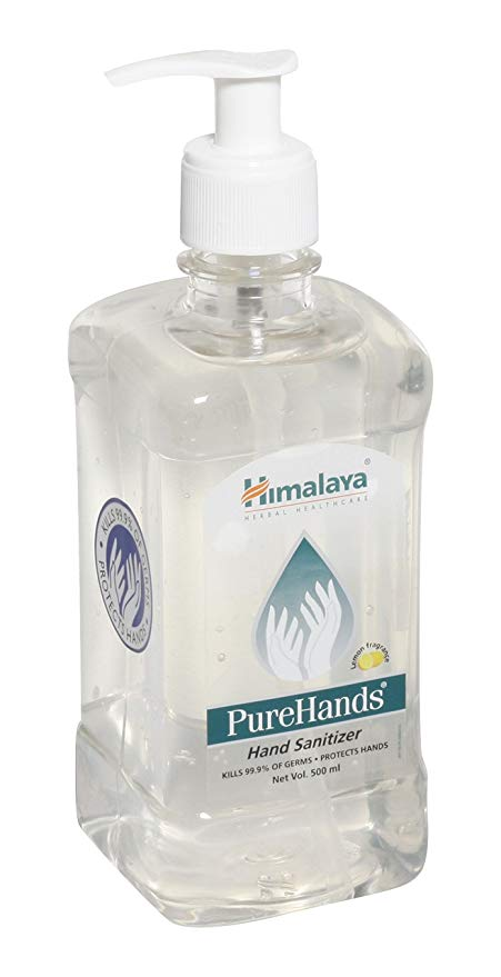 Himalaya PureHands Hand Sanitizer Lemon  500 ml pack of 2