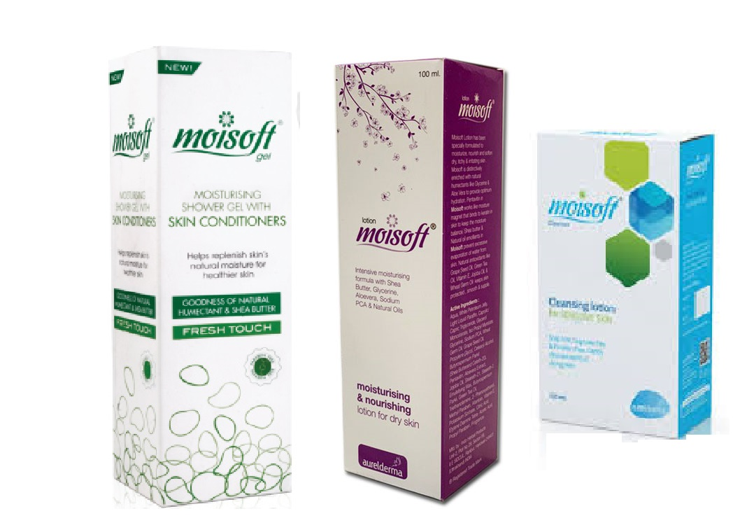 Moisoft Moisturising Lotion 100ml and Moisturising Skin Conditioners 100g and Cleansing Lotion 125ml