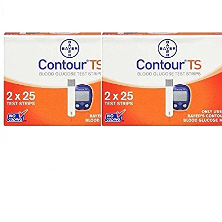 Bayer Contour Ts Test Strips 50 Count Pack of 2 Multi Color