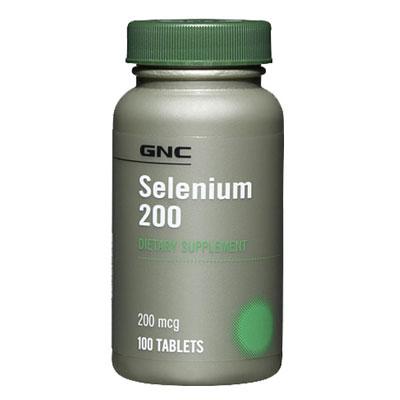 GNC Selenium 200mcg 100 vegetarian Tabs