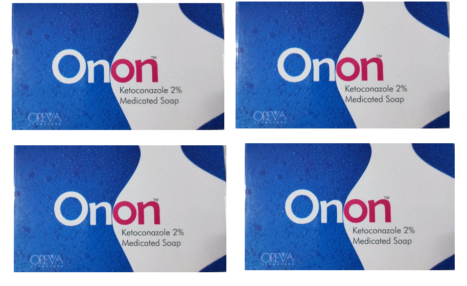 Onon Ketoconazole 2 Medicated Soap Pack of 4
