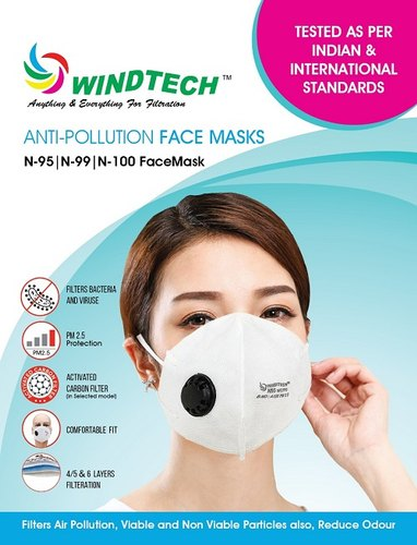 WINDTECH MULTILAYERED FILTRATION MASK PM 2.5 Micron (pack of 2)