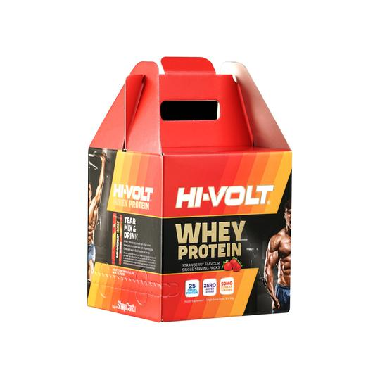 Whey Protein Hi VOLT  (Strawberry) - 34GM 30's Buy 1 Get 1 Free